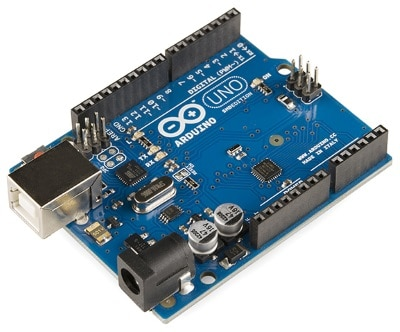 """Arduino Uno - R3"" by SparkFun Electronics from Boulder, USA - Arduino Uno - R3. Licensed under CC BY 2.0 via Commons - https://commons.wikimedia.org/wiki/File:Arduino_Uno_-_R3.jpg#/media/File:Arduino_Uno_-_R3.jpg"