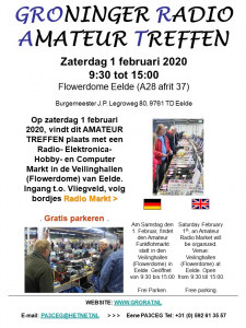 GROninger Radio Amateur Treffen (GRORAT) 2020 @ Flowerdome Eelde | Eelde | Drenthe | Nederland
