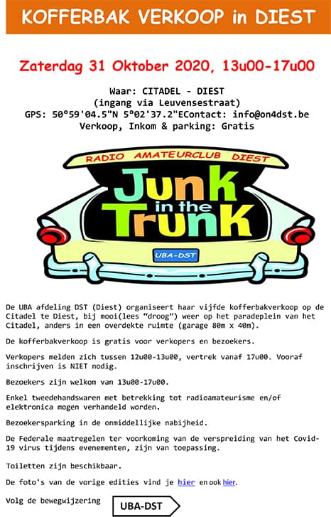 ?? Junk-in-the-Trunk Diest 2020 ?? @ Citadel | Diest | Vlaanderen | België