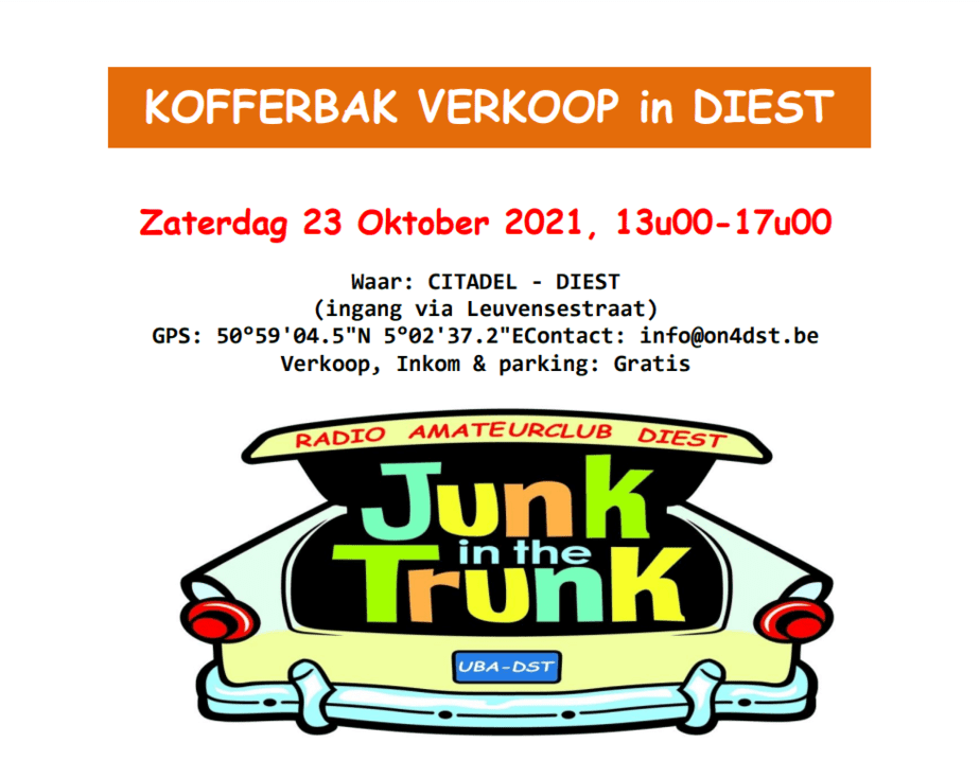 Junk-in-the-Trunk Diest 2021 @ Citadel | Diest | Vlaanderen | België